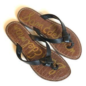 Sam Edelman GILES Black thong sandal/6.5